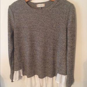 Altr'd State Sweater w/ Chiffon - Medium
